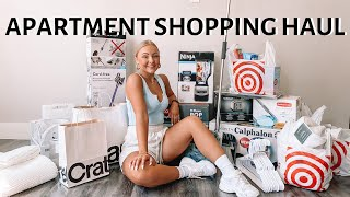 FIRST APARTMENT SHOPPING HAUL (TARGET, COSTCO, IKEA, CRATE & BARREL)