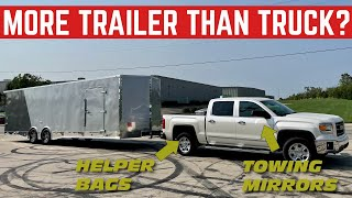 We're MAKING This 1/2 Ton TRUCK Pull A 30FT TRAILER *DANGER*