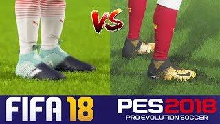 4ea562d35d7f fifa 18 vs pes 2018 cleats videos