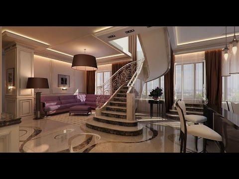 Дизайн двухуровневой квартиры в современном стиле