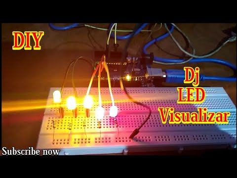 DIY LED Music Visualizer | Real-Time Animations (Arduino) - смотреть
