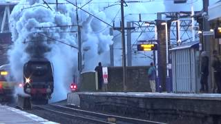 preview picture of video 'Battle of Britain Pacific 34067 Tangmere storming Finsbury Park'