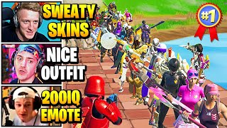 Streamers Host SWEATY SKINS Fashion Show | Fortnite Daily Funny Moments Ep.525