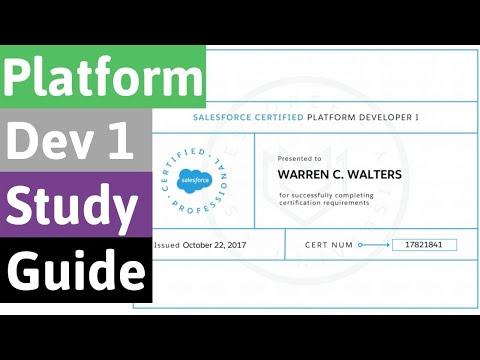 Salesforce Certified Platform Developer 1 Study Guide | August ...