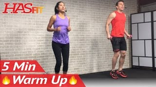 5 Minute Fat Burning Cardio Warmup Exercise - 5 Minute Warm Up Exercises Before Workout – How to by HASfit