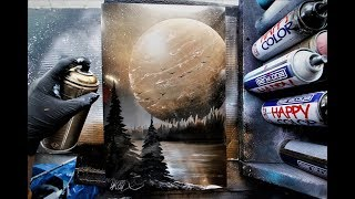 Golden Winter - SPRAY PAINT ART by Skech