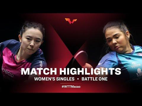 Jeon Jihee vs Adriana Diaz | WTT Macao Battle One HIGHLIGHTS
