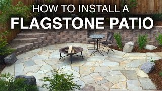 How To Install A Flagstone Patio (Step-by-Step) - Video Youtube