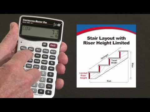 Construction Master Pro - Riser Limited Stair Layout
