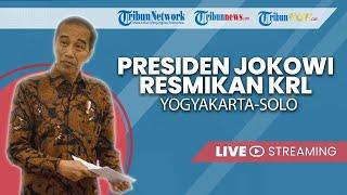 Jokowi Resmikan KRL Solo-Yogyakarta, Presiden RI: Kereta Api Ini Lebih Cepat dari KA Prameks