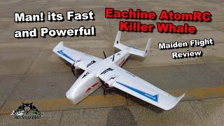 Eachine AtomRC Killer Whale Twin Rotor RC FPV airplane Maiden Flight