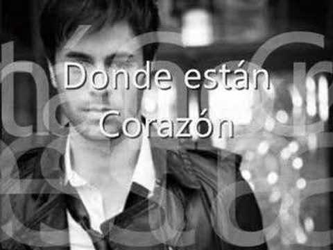Donde estan corazon-Enrique Iglesias