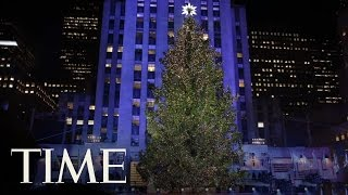 Time-Lapse: The Rockefeller Christmas Tree Rises And Lights | TIME