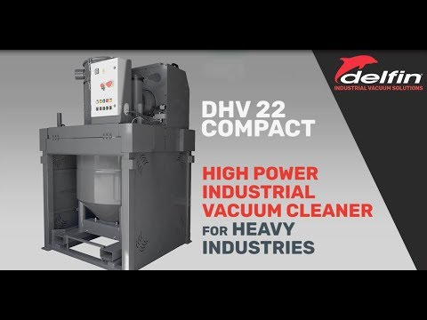 Delfin DHV 22 Compact High Power Industrial Vacuum Cleaners With Lobe Pump