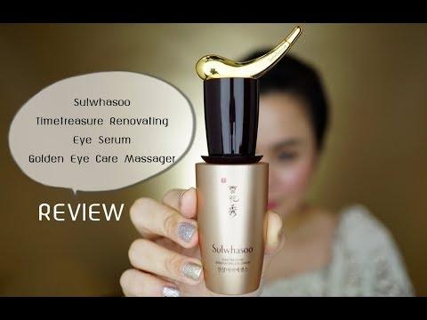 Cinnamongal Review: Sulwhasoo Timetreasure Renovating Eye Serum + Golden Eye Care Massager
