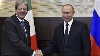 Putin & Italian PM Gentiloni hold press conference in Sochi (streamed live)