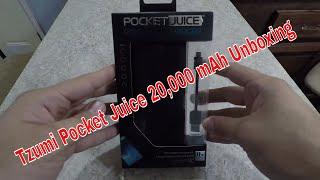 Tzumi Pocket Juice 20,000 mAh Unboxing