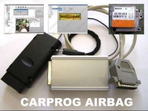 Airbag Crash Data Restore Carprog ECM repairing Training - смотреть