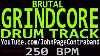 Brutal Grindcore Drum Track Death Metal 250 bpm Backing