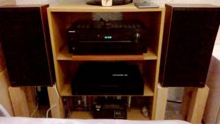 Bang and Olufsen Beovox S35-2 Speakers - Onkyo TX-8020 Amplifier