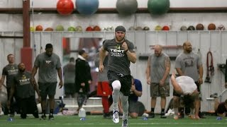 Philip Nelson, quarterback for Minnesota, Rutgers and East Carolina, trains for NFL