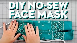 How To Make A DIY No-Sew Face Mask   Good Housekeeping