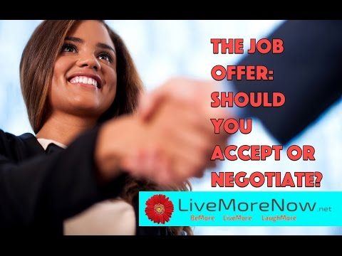 Video Job Offer: Should You Accept or Negotiate?