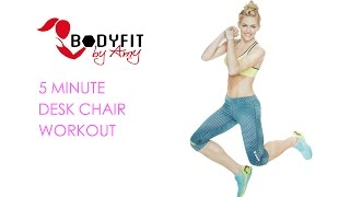 5 Minute Desk Chair Workout--Get Moving During Your Work Day!