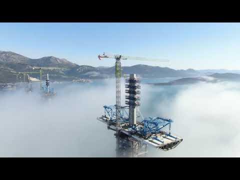 Pelješki most iz vazduha