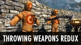 Skyrim Mod: Throwing Weapons Redux + Perks