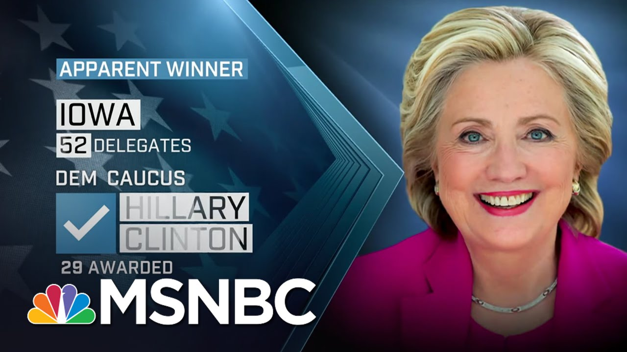 Hillary Clinton Apparent Iowa Winner   MSNBC thumbnail