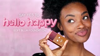 Say HELLO to HAPPY! Benefit's Hello Happy soft blur foundation is a lightweight formula that comes in 12 flexible shades to fit a range of complexions from light to deep! This lightweight foundation evens out skin tone and blurs imperfections with soft-focus optical blurring spheres. With a natural-matte finish and light-to-medium coverage, it looks like skin and feels like nothing at all. Happy looks good on you!  SHOP THE LOOK: https://bit.ly/2M7Kakk  CHECK US OUT ON SOCIAL Instagram:  http://www.instagram.com/benefitcosmetics Snapchat: benefitbeauty Facebook:  http://www.facebook.com/benefitcosmetics Twitter: http://www.twitter.com/benefitbeauty