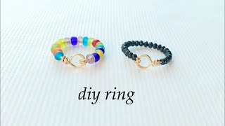 Diy Ring/How To Make Finger Ring/wire Wrapped Ring/simple Stackable Ring/handmade Wire Ring