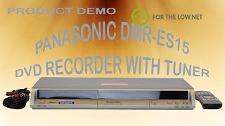 Panasonic DMR-ES15 DVD RAM Disc Recorder with Built-in Tuner Product Demo