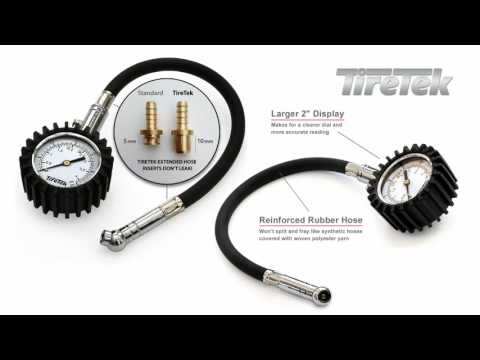 TireTek Flexi-Pro Heavy Duty Tyre Pressure Gauge for Car & Motorbike – UK & Europe