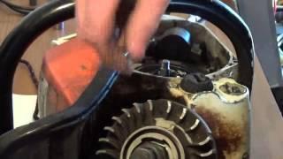 Flywheel removial on a stihl 028 wood boss