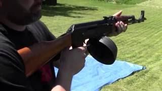 AK47 Full Auto Dump With 75 Round Drum Mag