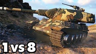 AMX M4 mle. 51 - 1 vs 8 - 10,8K Damage - World of Tanks Gameplay