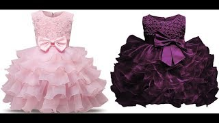 High Quality Baby Girl Dress ! 1 Year Birthday Dress For Baby Girl ! Princes Baby Frocks Designs