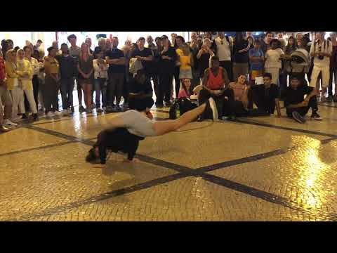 German break dancer, Rua Augusta