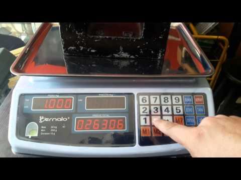 Ajuste de peso (calibración) bascula Bernalo modelo ACS 30/15 Color de 30 kg