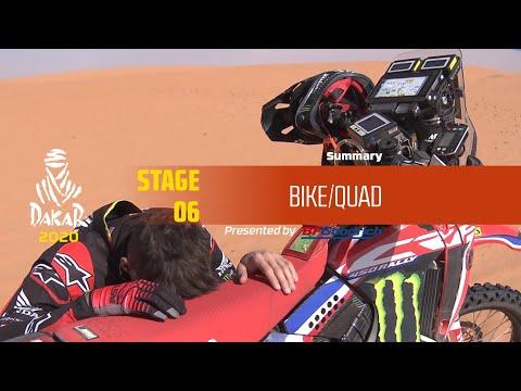 【ダカールラリーハイライト動画】ステージ6 バイク部門のハイライト