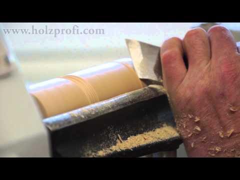 Drechseln von Holz mit dem Schrägeisen, Flachmeissel, Flachdrechselmesser