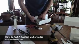 How to Cut a Custom Gutter Miter