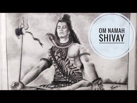 How To draw Lord Shiva in Pencil shading Part-1 - смотреть