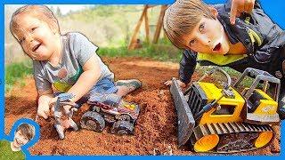 Construction Trucks Moving Dirt!