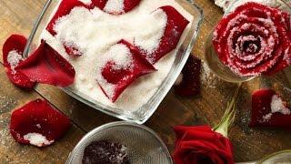 Как приготовить вкусный десерт из лепестков роз
