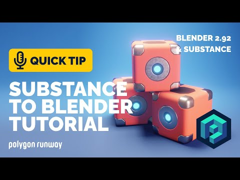 Substance Painter to Blender Tutorial - Textured Hard Surface Model | Polygon Runway
