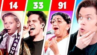 BEST SINGERS BY AGE (11-91 Years Old)