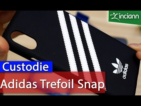 iPhone X XS: Trefoil Snap Case originale Adidas striped